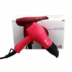 BERTA 1000 Watts Mini Hair Dryer Ceramic Ionic Travel Blow D