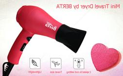 1000W 2 Speed Mini Hair Blow Dryer Lonic Ceramic  Tourmaline