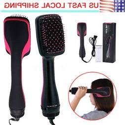 110V 2 in 1 Salon Beauty Smoothing Hair Dryer & Paddle Brush