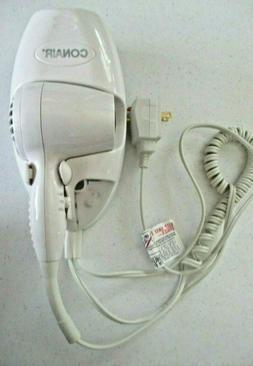 Conair 1600 Watt Wall-Mount Hair Dryer W/ Night Light  White