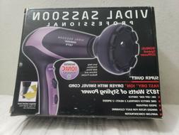 Vidal Sassoon 1875 Watt Hair Dryer super Quiet Style Fast Dr