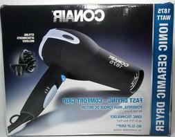 Conair 1875 Watt Ionic Ceramic Hair Dryer, Black cb3t34