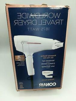 Conair 1875 Watt Worldwide Travel Hair Dryer with Smart Volt