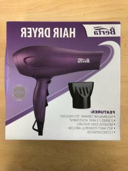 BERTA 1875 WNegative Ionic Blow Hair Dryer Soft Touch Tourma