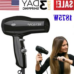 Revlon 1875W Compact Hair Dryer Travel Professional Ionic Tu