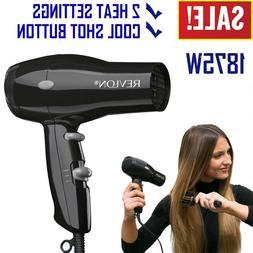 1875w compact hair dryer travel professional ionic