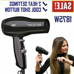 Compact Hair Dryer Travel Revlon 1875W Professional Blow Adj