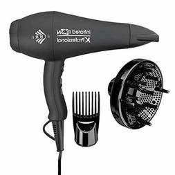 1875W Professional Hair Dryer Negative Ionic with Diffuser &