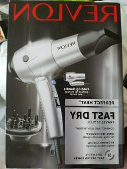 Revlon 1875W Unisex Fast Dry Travel Hair Dryer Folding Handl