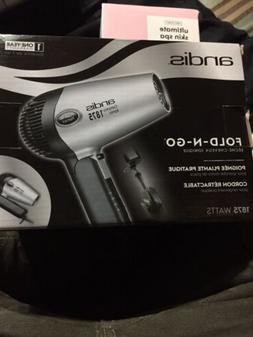 1875watt foldngo ionic hair dryer silver black