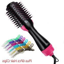2 in 1 Drying Hair Dryer & Volumizer Straightener Curler Hai