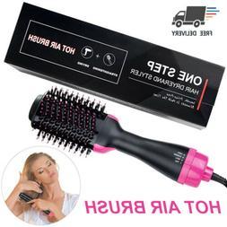 2 in 1 Straightening & Drying Hair Dryer & Hair Brush Hot Ai