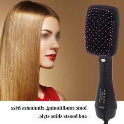 2 In1 Professional Electric Comb Hair Dryer Brush Straighten