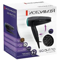 Remington 2000W Compact Travel Hair Dryer with Diffuser & Fo