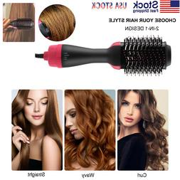 2In1 One Step Hair Dryer and Volumizer Brush Comb Straighten