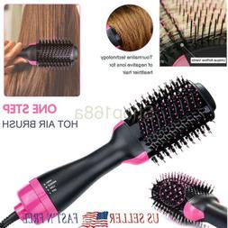 2 In 1 One Step Hair Dryer Volumizer Brush Straightening Cur