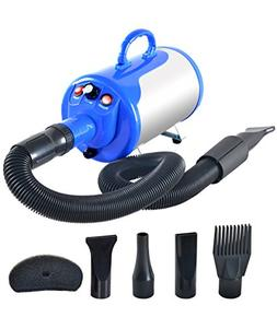 SHELANDY 3.2HP Stepless Adjustable Speed Pet Hair Force Drye