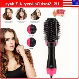 3 In 1 One Step Hair Dryer and Volumizer Brush Straightening