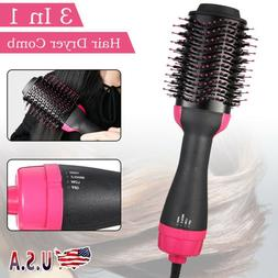 3 In 1 One Step Hair Dryer Comb Volumizer Pro Brush Straight