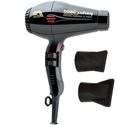 Parlux 3800 Professional Hair dryer BLACK Ceramic Ionic Supe