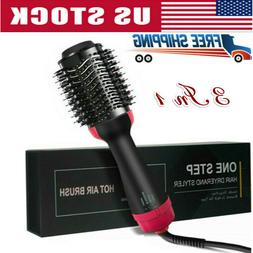 3In1 Pro One Step Hair Dryer Volumizer Brush Comb Straighten