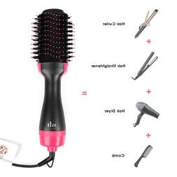 4-In-1 One Step Hair Dryer and Volumizer Brush Comb Straight