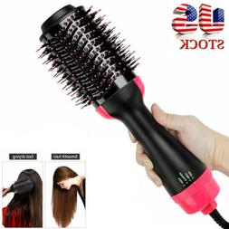 4-In-1 One Step Hair Dryer & Volumizer Brush Comb Straighten