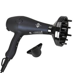JINRI 1875W Lightweight DC Motor Low Noise Hair Dryer Negati