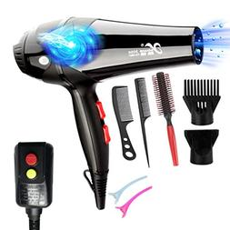 REBUNE 3000W Blue Light Anion Hair Dryer Ceramic Ionic Fast