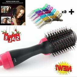 Anion Infrared Hair Dryer Comb Brush Volumizer Hair Blow Str