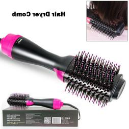 Anion Infrared Hair Dryer Comb Brush Volumizer Hair Blow Cur