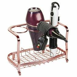 mDesign Bath Countertop Hair Care & Styling Tool Organizer H