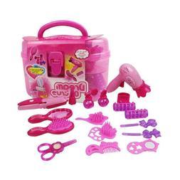 Beauty Kit Accessories Toys Hair Dryer Set Salon Game Durabl