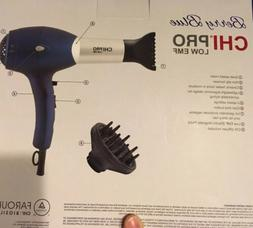 CHI Berry Blue LOW EMF Professional Hair Dryer Diffuser Conc