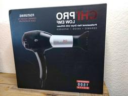 CHI BLACK PRO LOW EMF HAIR DRYER NEW Professional with diffu