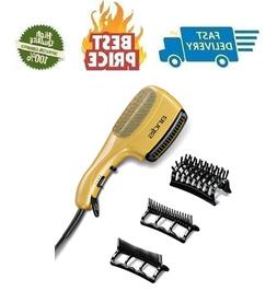 Blow Dryer Brush Hair Comb 3 Attachment Ion Long Ceramic Thi