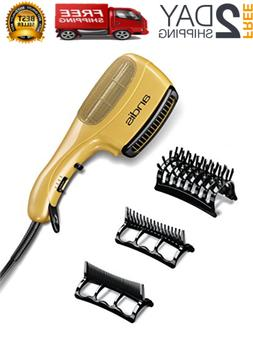 Blow Dryer Brush Hair Comb 3 Attachment Ion Long Ceramic