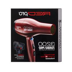 KISS RED PRO 3200 Turbo Pro Hair Blow Dryer Professional