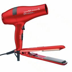 BaByliss Pro Ceramix Xtreme Red Flat Iron & Hair Dryer Set