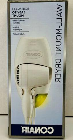 Conair 134NR 1,600-Watt Wall-Mount Compact Hair Dryer