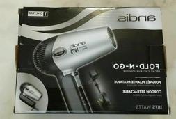 Andis Fold-N-Go 1875 Watts Ionic Hair Dryer Silver/Black 800