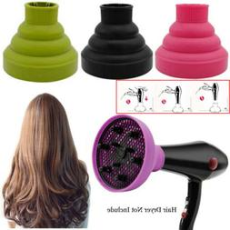 Foldable Hair Dryer Diffuser Silicone Salon Curly Cover Styl