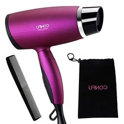 CONFU Folding 1600W Low Noise Hair Portable Blow Dryer with