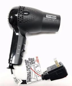 Conair Hair Blow Dryer 1875 Ionic Retractable Cord Dual Volt