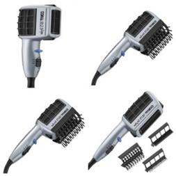Hair Blow Dryer Styler Straight Curl Silky Comb Brush with I