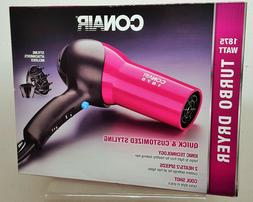 Conair Hair Dryer 1875 Turbo Styler Ionic Conditioning 2 Spe