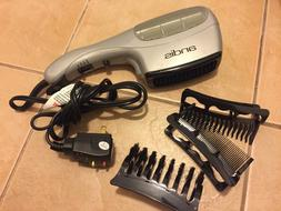 Andis Hair Dryer Barely Used, with 3 Curling Attachments