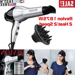 HAIR DRYER Revlon Compact 2 Speed Blower 1875W Powerful Wome