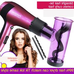 hair dryer curler roller diffuser magic wind