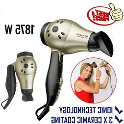 Hair Dryer Folding Handle Professional Travel Turbo Blower C